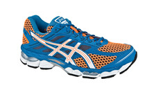Asics Men's Gel Cumulus 15 neon orange/white/royal